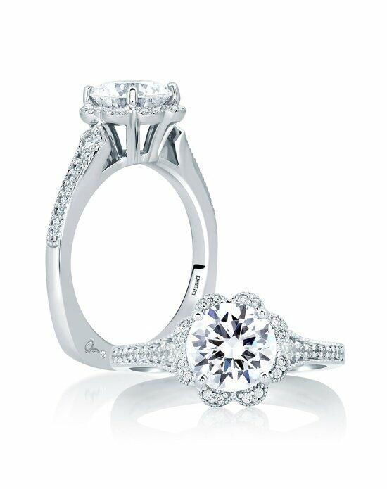 A Jaffe Statement Halo Engagement Ring