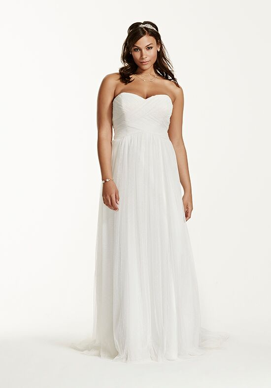 David's Bridal Galina Style 9WG3438 Sheath Wedding Dress