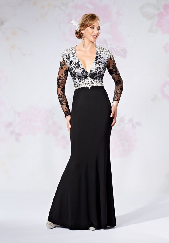Beautiful Mothers by Mary's M2735 Black Mother Of The Bride Dress