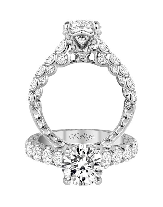 Jack Kelege Glamorous Round Cut Engagement Ring