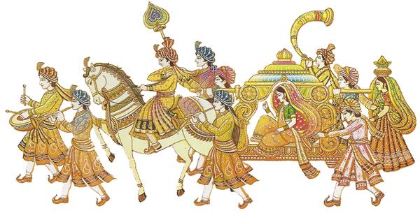 Hindu Wedding Symbols Clip Art In Color