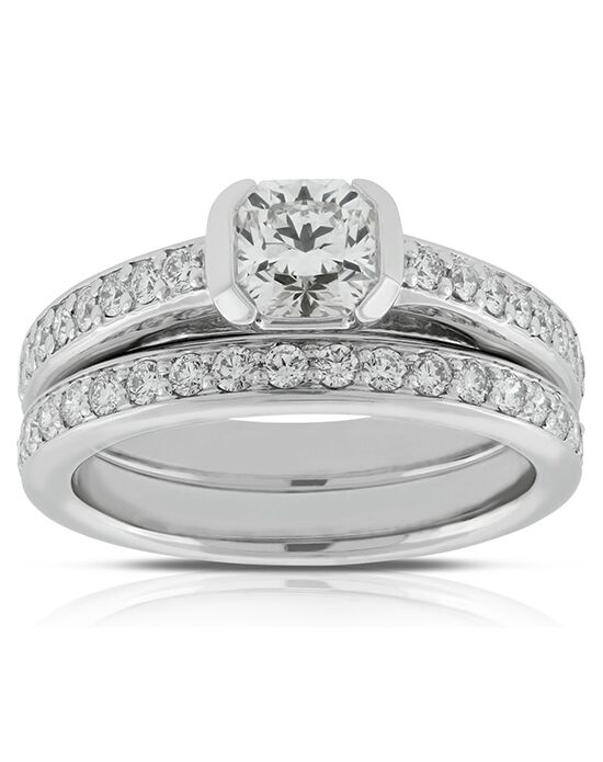Ben Bridge Jeweler Unique Cushion, Round Cut Engagement Ring