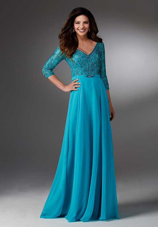MGNY 71516 Blue Mother Of The Bride Dress