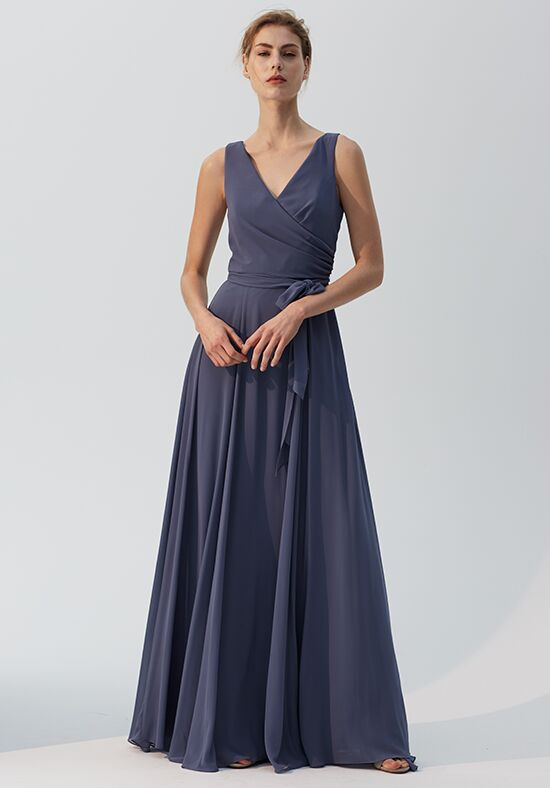 Amsale Bridesmaids Trudy V-Neck Bridesmaid Dress