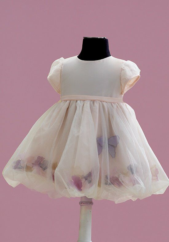 Joan Calabrese by Mon Cheri 215357B Pink Flower Girl Dress
