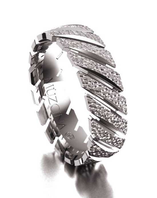 MÜZCINA by JJBückar BL25-H-100-X-XX-XX-18P-HX-65 Palladium, White Gold Wedding Ring