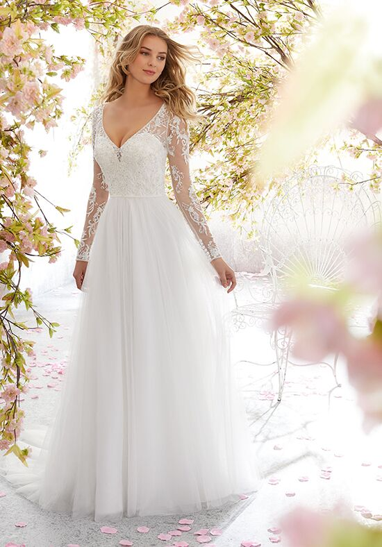 Morilee by Madeline Gardner/Voyage 6892 / Leanne A-Line Wedding Dress