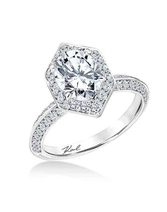 KARL LAGERFELD Unique Oval Cut Engagement Ring