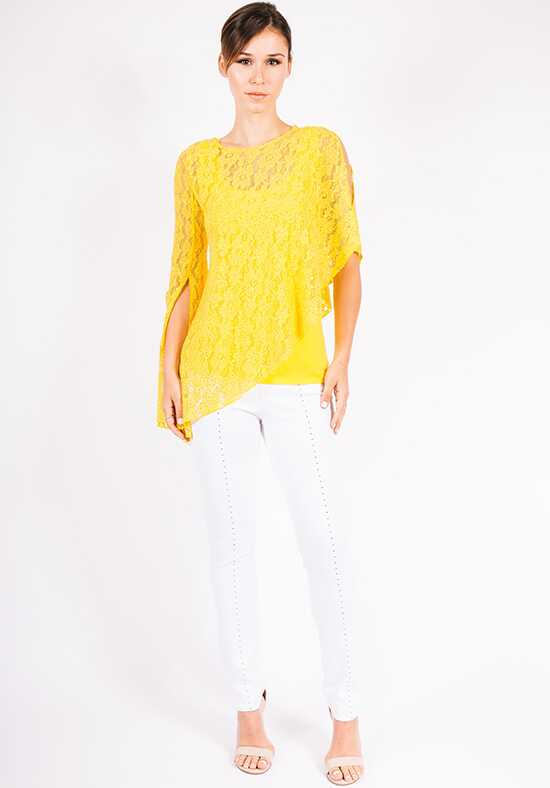 Grayse Wedding Party Stardust Lace Asymmetrical Top - W5450514 Yellow Mother Of The Bride Dress