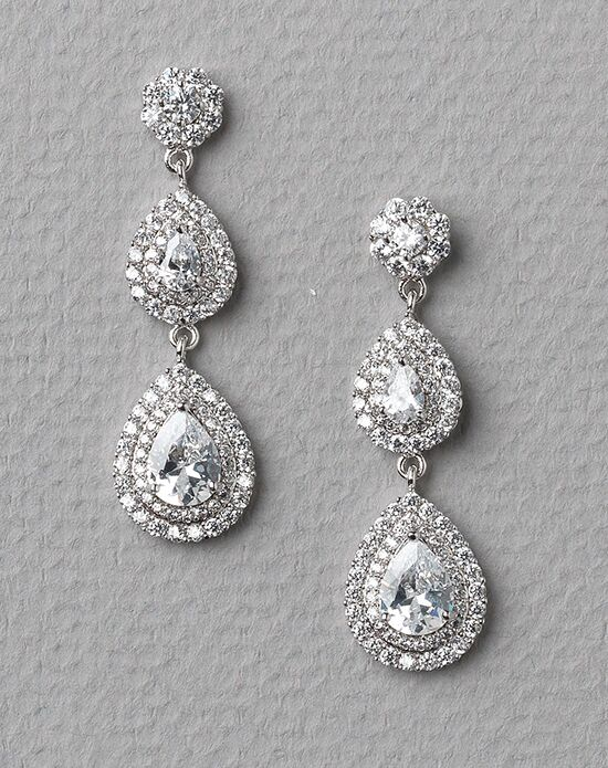 USABride Callie CZ Earrings JE-4049 Wedding Earring photo