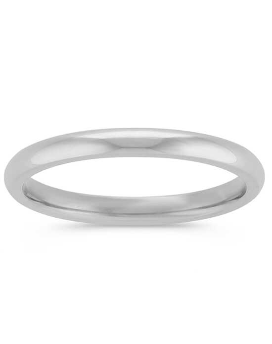 Shane Co. 14k White Gold Comfort Fit Wedding Band White Gold Wedding Ring