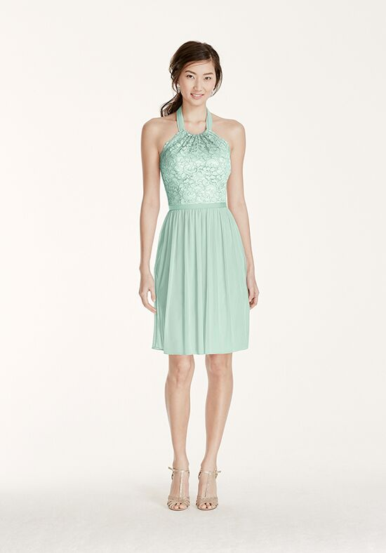 David's Bridal Collection David's Bridal Style F17020 Halter Bridesmaid Dress