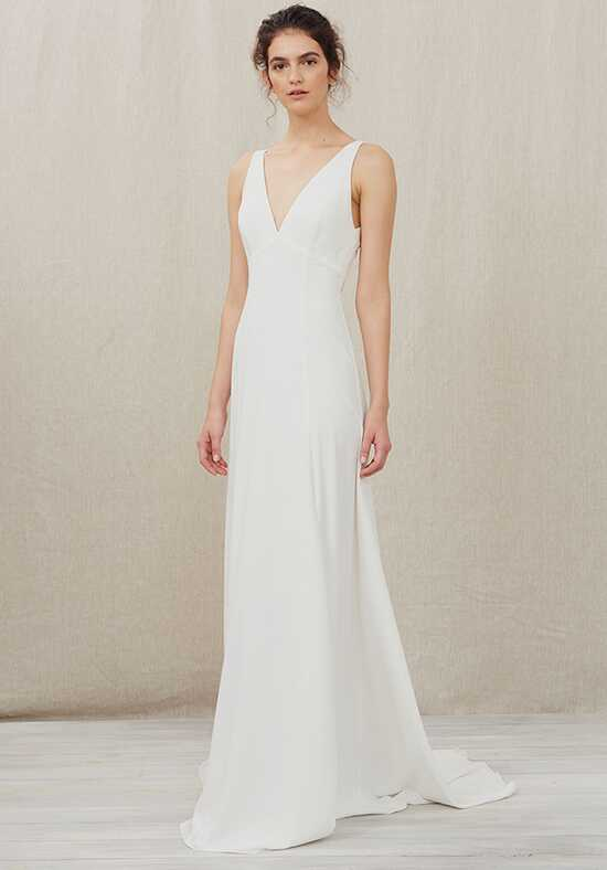 Christos Elma Sheath Wedding Dress