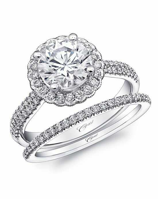 Coast Diamond Vintage Round Cut Engagement Ring