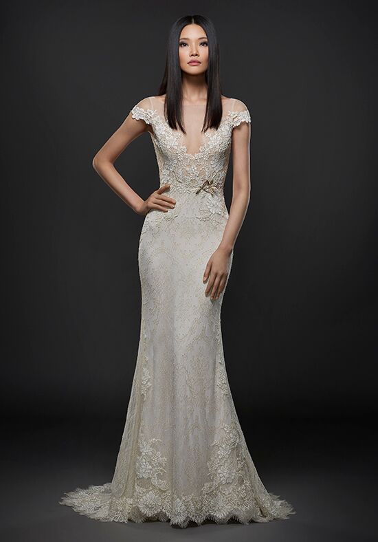 Lazaro 3763 Sheath Wedding Dress