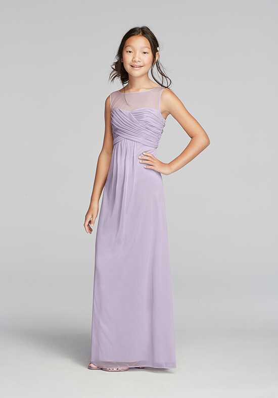 David's Bridal Junior Bridesmaids David's Bridal Style JB9010 Illusion Bridesmaid Dress