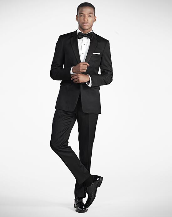Generation Tux Notch Lapel Slim Fit Black Tux Wedding Tuxedos + Suit photo
