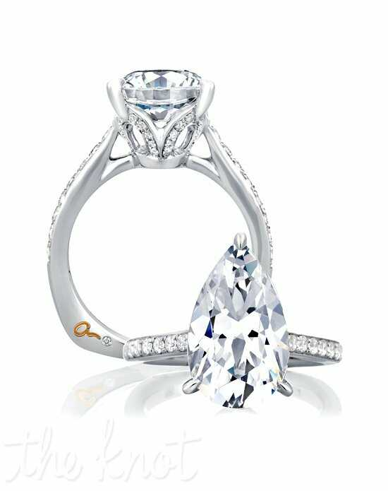 A.JAFFE Pear Cut Engagement Ring