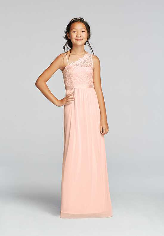 David's Bridal Junior Bridesmaids David's Bridal StyleJB9014M One Shoulder Bridesmaid Dress