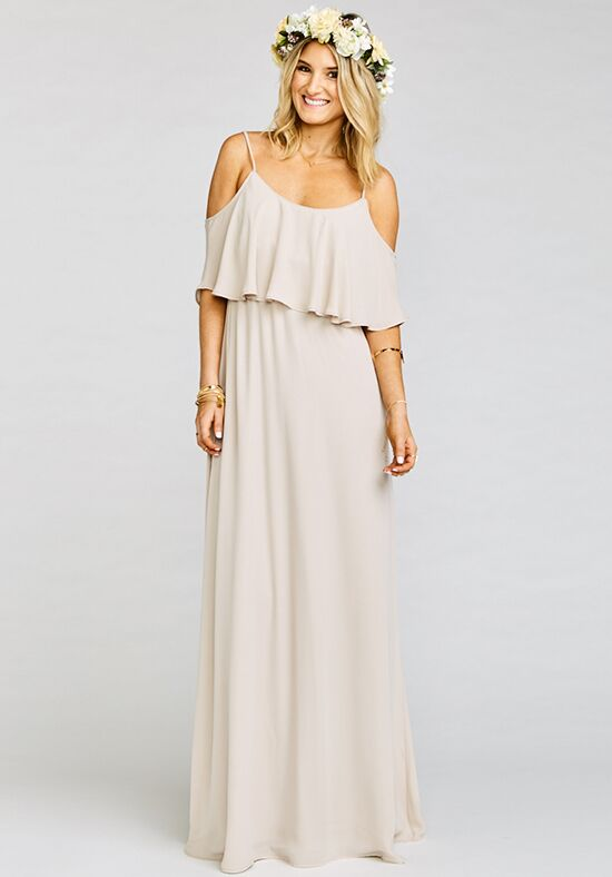 Show Me Your Mumu Caitlin Ruffle Maxi Dress - Show Me the Ring Crisp Scoop Bridesmaid Dress