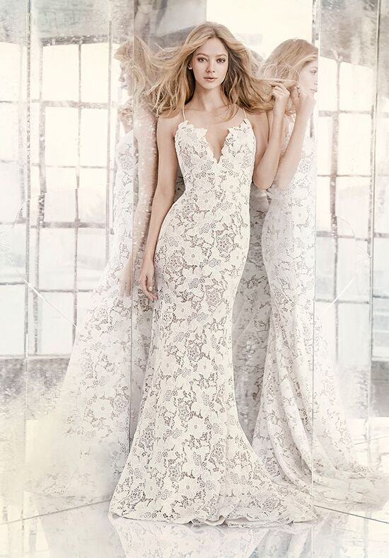 Hayley Paige 6606 Cali Sheath Wedding Dress