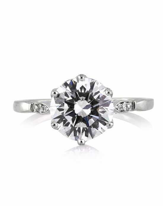 Mark Broumand Vintage Round Cut Engagement Ring