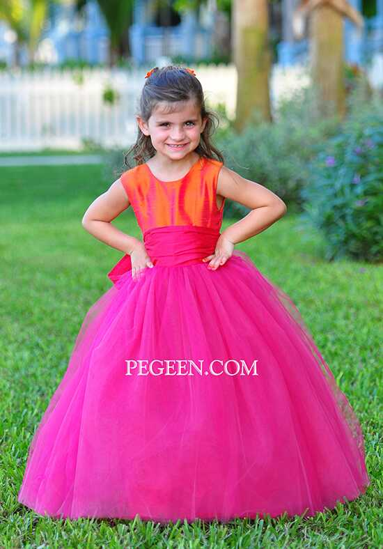Pegeen.com 402 Black Flower Girl Dress