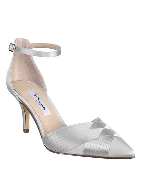 Nina Bridal Wedding Accessories Teriann_Silver Silver Shoe