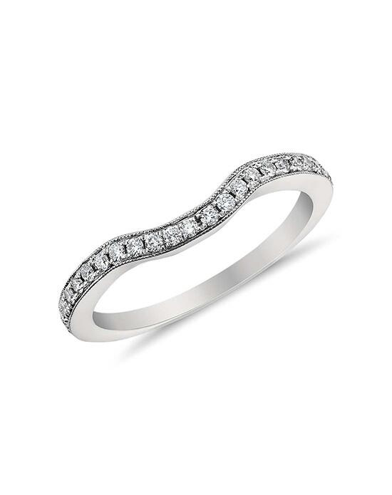 Monique Lhuillier Fine Jewelry Curved Pavé Diamond Ring Wedding Ring photo