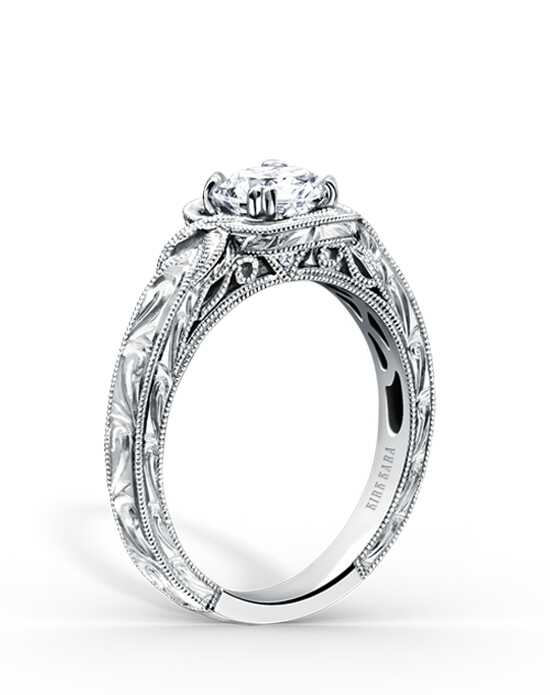 Kirk Kara Elegant Round Cut Engagement Ring