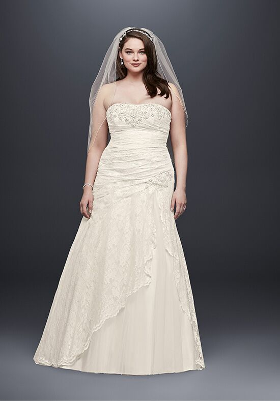 David's Bridal David's Bridal Collection Style 9YP3344 A-Line Wedding Dress
