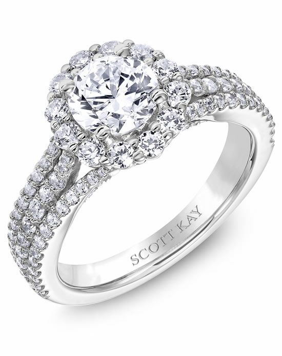 scott kay round cut engagement ring - Scott Kay Wedding Rings