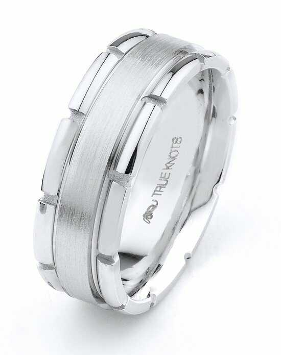 True Knots Man 526dcw Palladium Platinum White Gold Wedding Ring