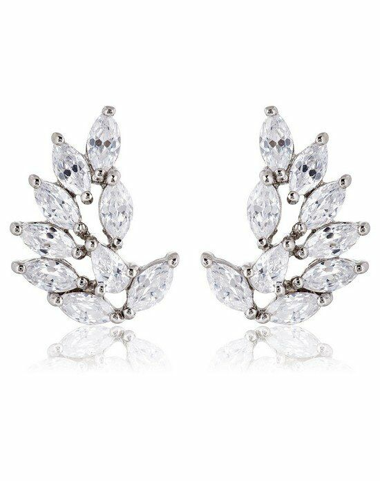 Thomas Laine Rita Marquise Cluster Earrings - Silver Wedding Earring photo