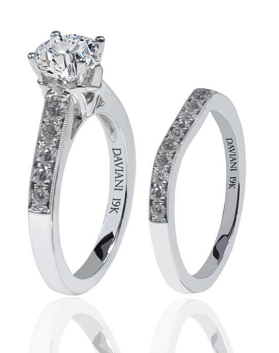 Daviani Love Links Collection DCR1144 White Gold Wedding Ring