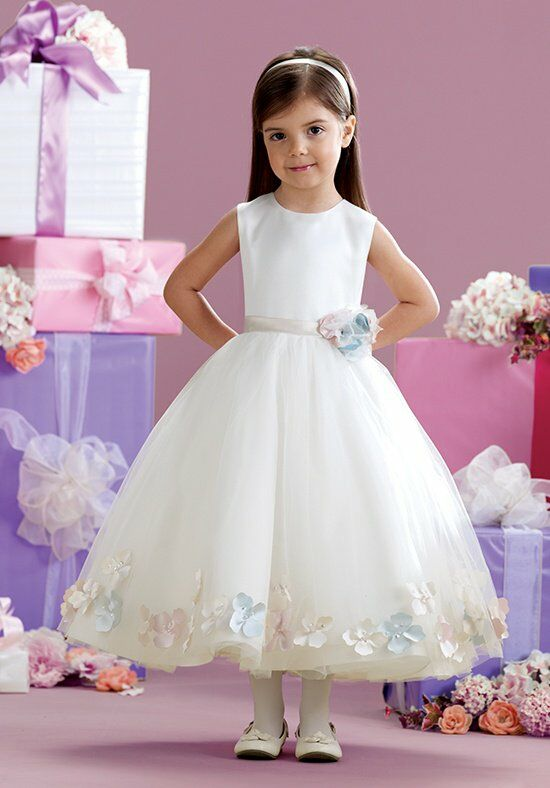 Joan Calabrese by Mon Cheri 215350 Ivory Flower Girl Dress