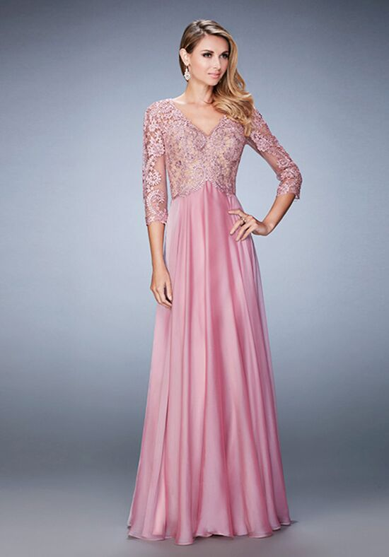 La Femme Evening 22031 Pink Mother Of The Bride Dress