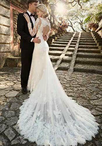 Essense Of Australia D1950 Sheath Wedding Dress