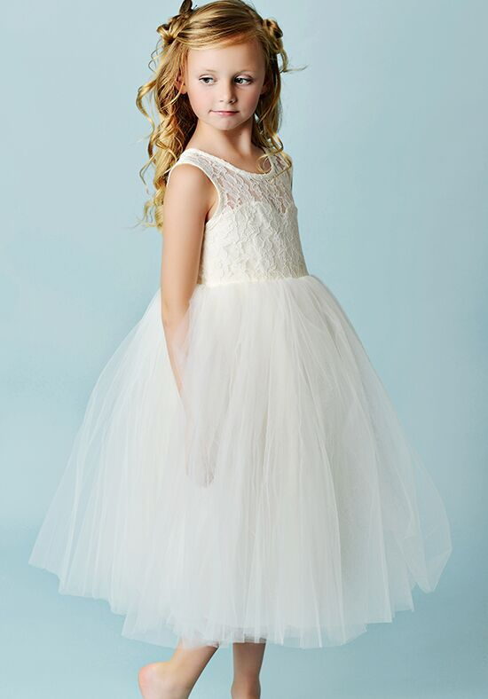 FATTIEPIE Charlotte - tea Ivory Flower Girl Dress