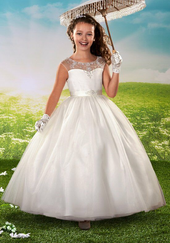 Cupids by Mary's F429 White Flower Girl Dress