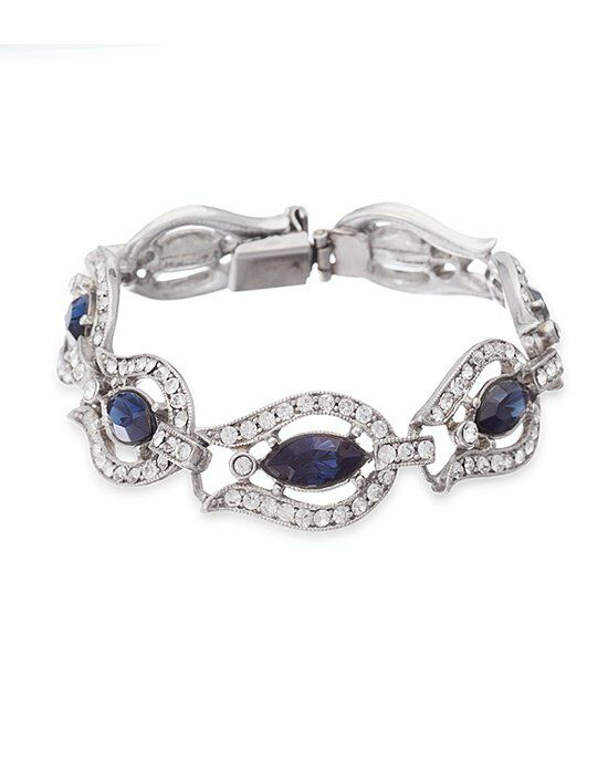Thomas Laine Ben-Amun Belle Epoque Blue Crystal Bracelet Wedding Bracelet photo