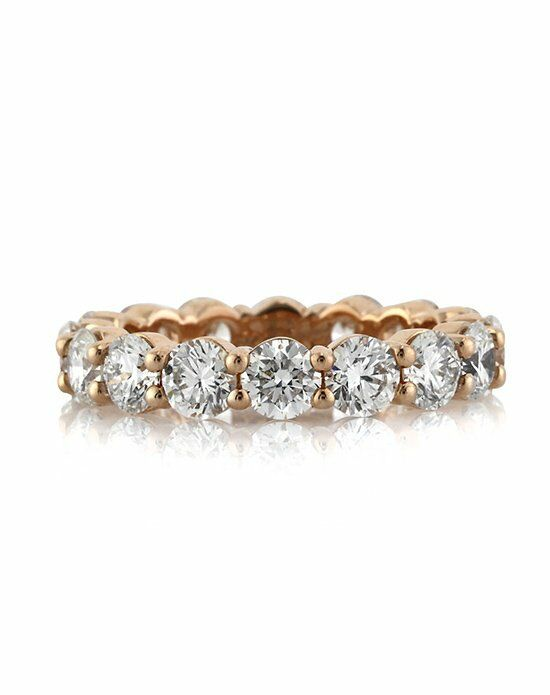 Mark Broumand 3.90ct Round Brilliant Cut Diamond Eternity Band in 18k Rose Gold Rose Gold Wedding Ring
