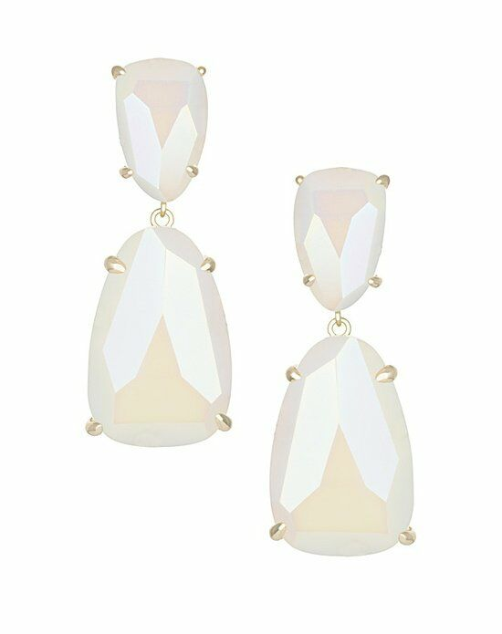 Kendra Scott Katie Statement Earrings in Iridescent White Wedding Earring photo