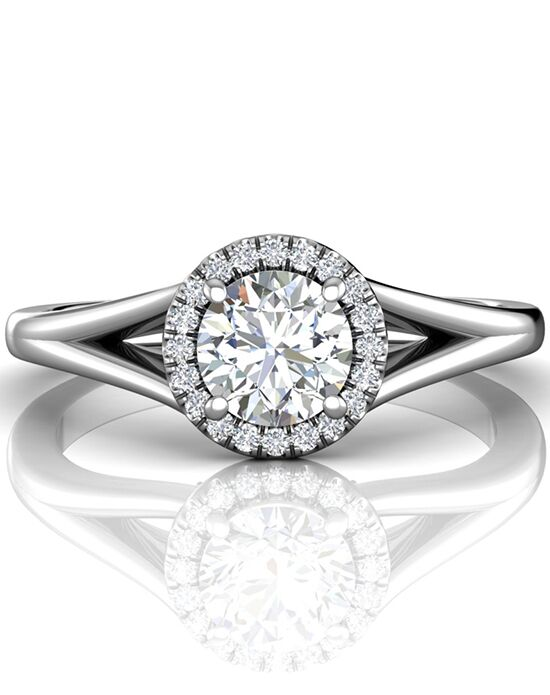 FlyerFit by Martin Flyer Unique Round Cut Engagement Ring