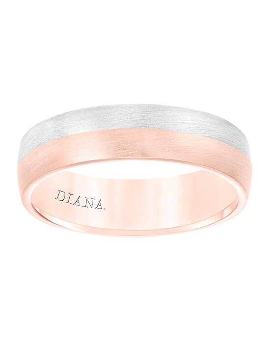 Diana 11-N8656RW6-G Rose Gold, White Gold Wedding Ring