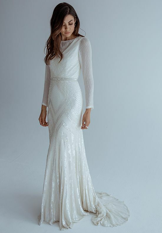 KAREN WILLIS HOLMES Cassie Mermaid Wedding Dress