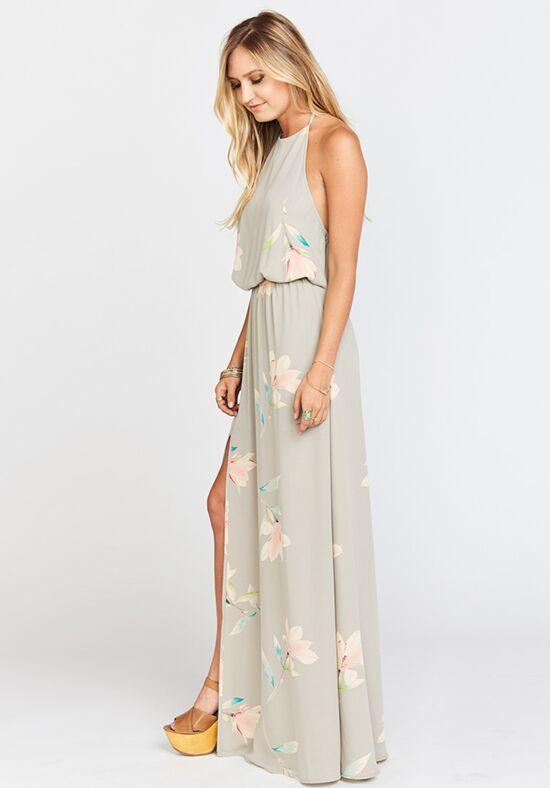 Show Me Your Mumu Heather Halter Dress Lily Showers Bridesmaid