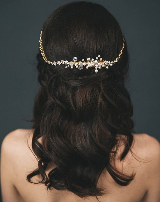 Davie & Chiyo | Hair Accessories & Veils Calliope Headpiece Gold, Pink, Silver Headband