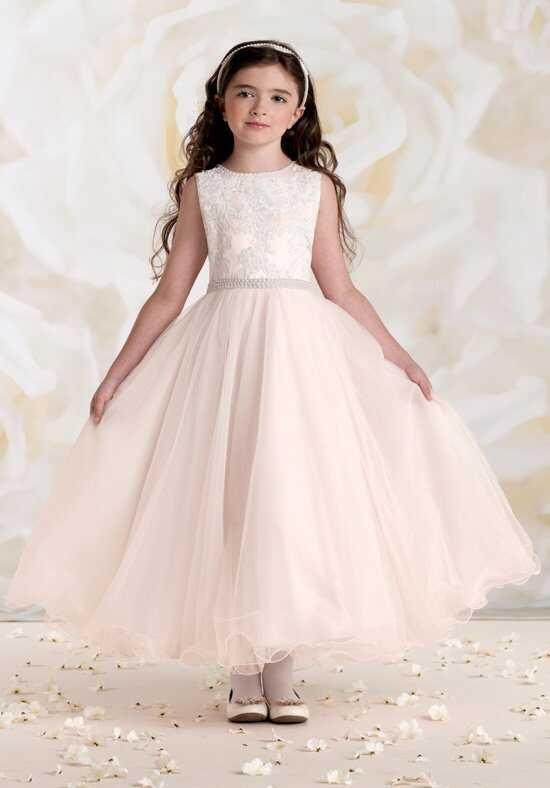Joan Calabrese by Mon Cheri 115302 Pink Flower Girl Dress