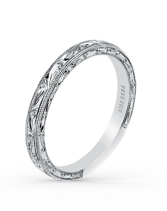 Kirk Kara Carmella Collection K1010-B White Gold Wedding Ring